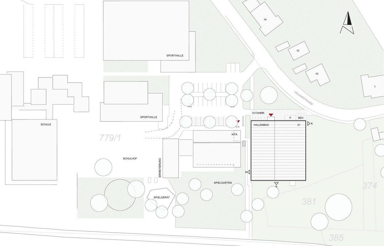 Lageplan Hallenbad Oedheim