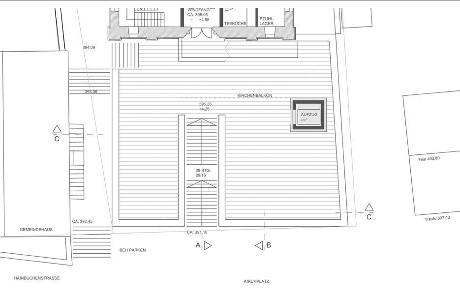 (K:\Dwg .19 ev Kirche Schönbrunn _Planung_Vorentwurf_Wettb